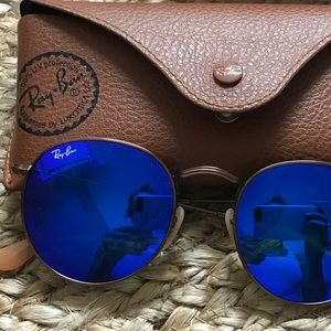 Ray Ban Round Flash Sunglasses